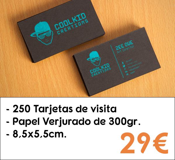 bd117f07b0767 250 Tarjetas de visita en papel verjurado de 300gr. Comprar tarjetas ...