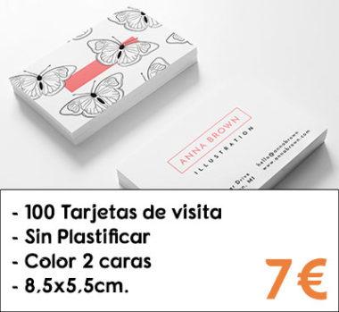 Tarjetas de visita sin plastificar