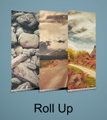 Imprimir Roll Up y Displays baratos