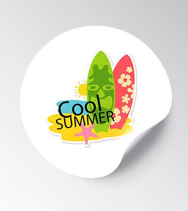 Stickers redondos personalizados baratos