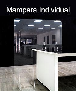 Mampara separadora para oficinas
