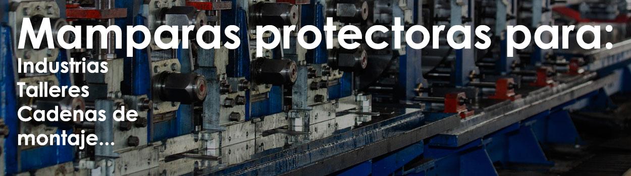 Mamparas protectoras para fabricas e industrias y talleres