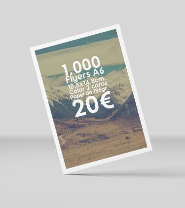 1000 flyers baratos y urgentes