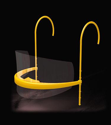 Mascarilla amarilla reutilizable transparente barata
