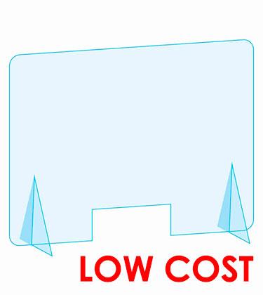 Mampara low cost anticontagio barata con envio 24h