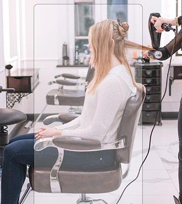 Mampara protectora para peluquerias y belleza