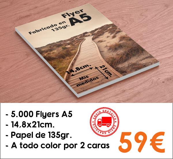 5000 flyers A5 por 59€