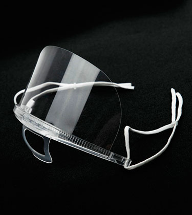Mini pantalla transparente reutilizable de policarbonato