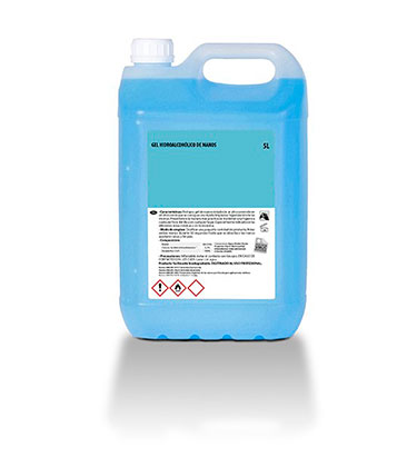 Gel hidroalcoholico en garrafa de 5L