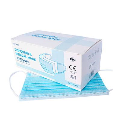 Mascarillas quirúrgicas para adultos en caja de 2.000 unidades